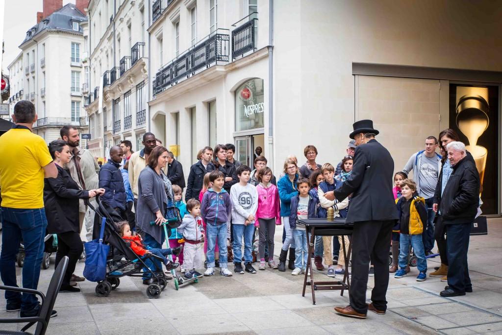 la magie de rue Santeuil à nantes