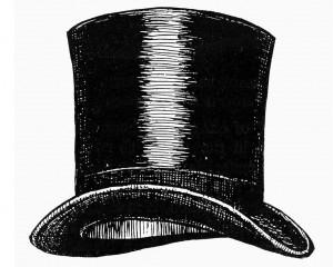 La magie du magicien dans le chapeau