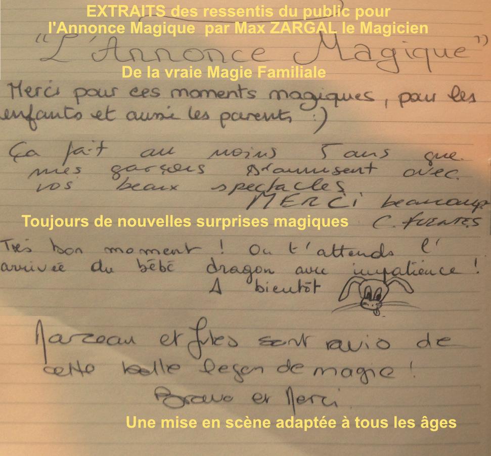 spectacle Le Lieu Magique Max Zargal